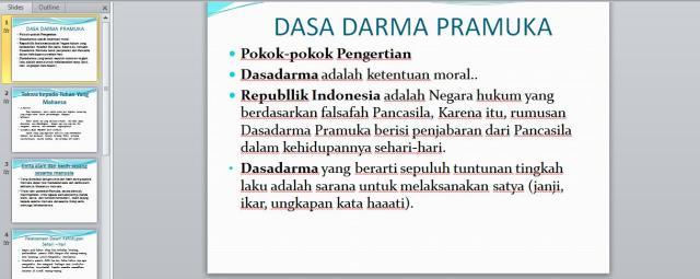 Dasa Darma Pramuka Power Point Apri Dwi Prasetyo