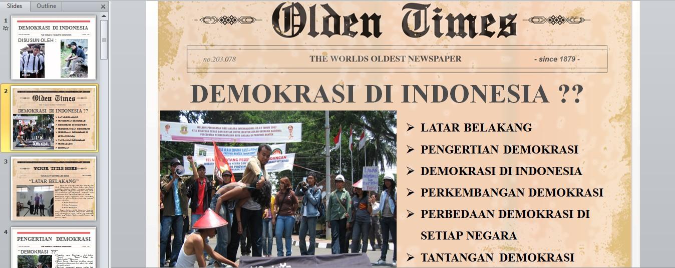 demokrasi di indonesia power point apri dwi prasetyo